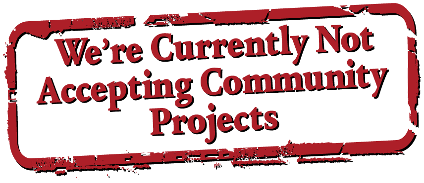 Not Accepting Community Projects