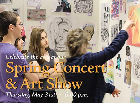 Spring Concert Art Show Ad 1