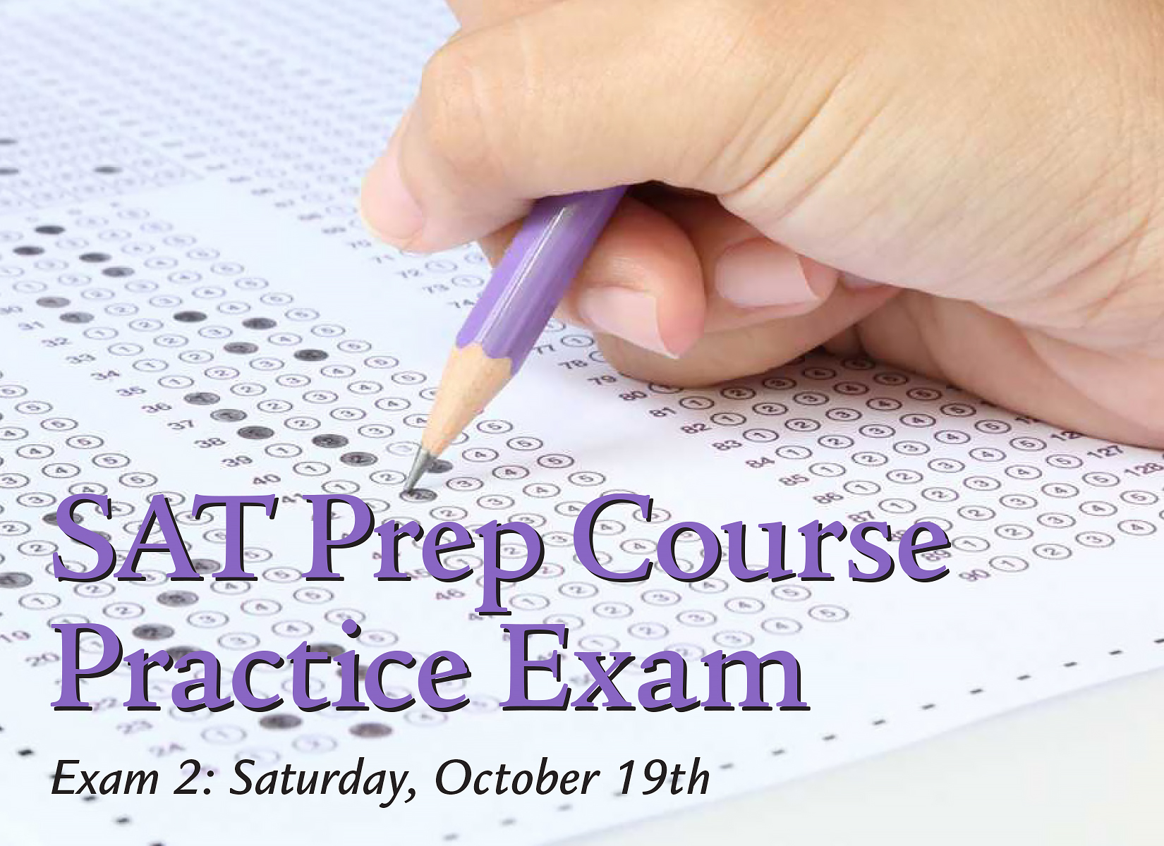 SAT Prep Course Practice Exam 2 Fall Ad