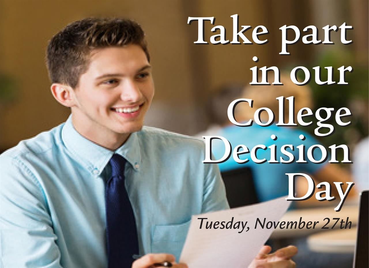 College Decisons Day Ad 1