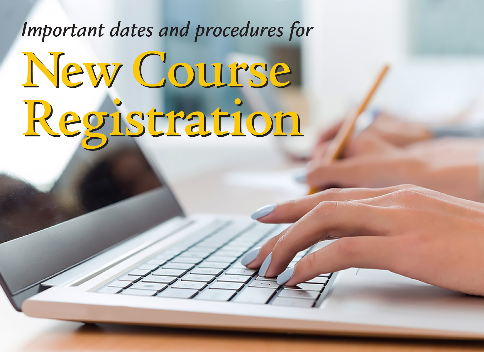 New Course Registration Ad 1