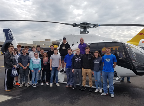 Students at Massport's Aviation and Maritime STEM Expo