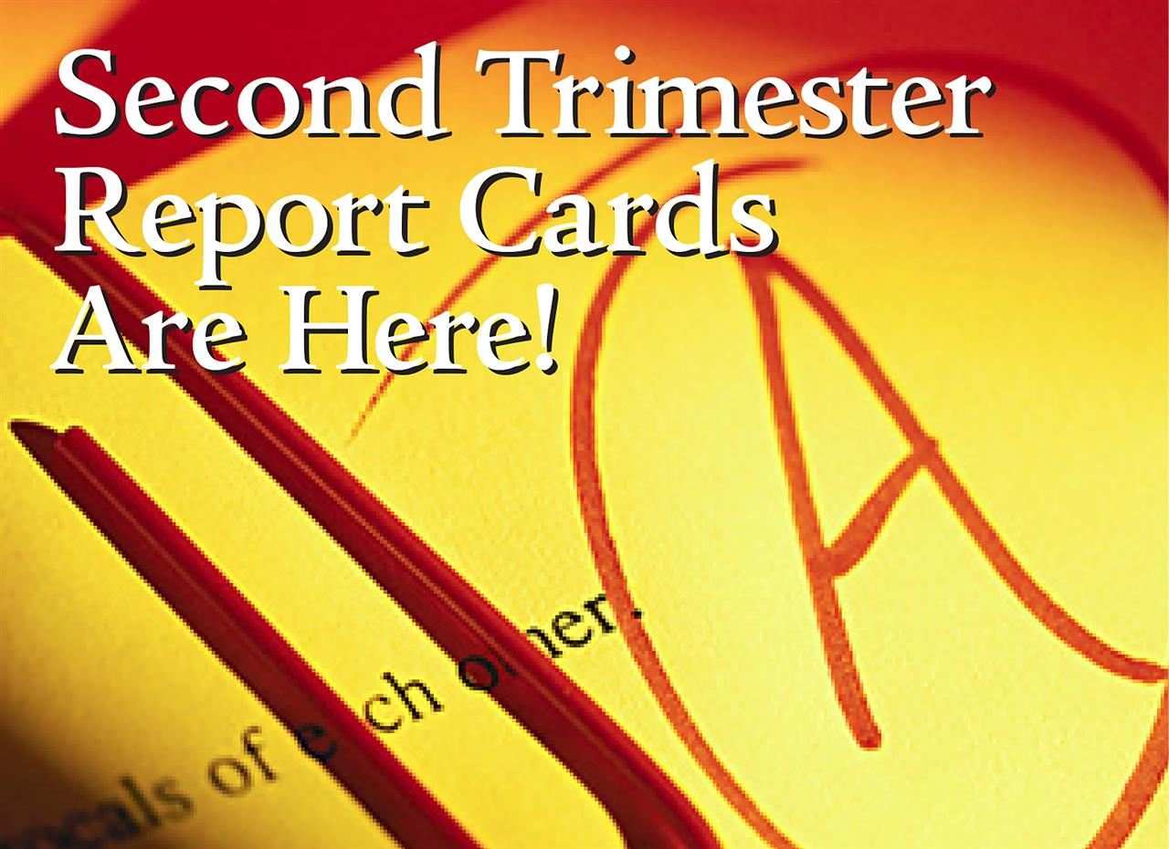Second Trimester Report Card Ad